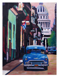 Cuban Oldtimer Street Scene In Havanna Cuba With Buena Vista Feelinng Posters by M Bleichner