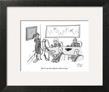 """Just in case the conference call runs long."" - New Yorker Cartoon Art Print by Farley Katz"