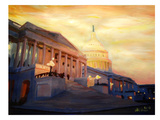 Washington Capitol2 Golden Prints by M Bleichner