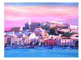 Ibiza Old Town And Harbour Pearl Of The Mediterranean Poster par M Bleichner