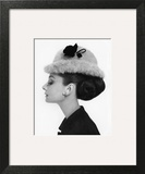 Vogue - August 1964 - Audrey Hepburn in Fur Hat Wall Art by Cecil Beaton