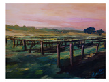 Napa Valley Vineyard During Sunset Prints by M Bleichner