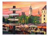 Munich - Viktualienmarkt Posters af M Bleichner