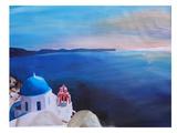 Santorini V Oia Posters by M Bleichner