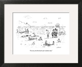 """""""I'm sorry, but this beach is for residents only."""" - New Yorker Cartoon Wall Art by David Sipress"""