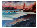 San Fran Golden Gate Art by M Bleichner