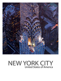 New York City Classical Midtown Manhattan With Chrysler Building Poster Prints by M Bleichner