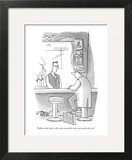 """""""Vodka on the rocks, in the rocks, around the rocks, and under the rocks."""" - New Yorker Cartoon Wall Art by Peter Steiner"""