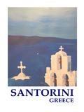 Santorini Greek Island Classical Poster Prints by M Bleichner