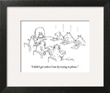 """I didn't get where I am by trying to please."" - New Yorker Cartoon Wall Art by Mike Twohy"