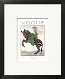 Vogue Cover - January 1926 - Zebra Safari Wall Art by André E. Marty