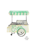 Ice Cream Cart Posters by Gina Maher