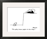 """Not guilty, because puppies do these things."" - New Yorker Cartoon Art Print by Charles Barsotti"