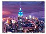 New York City - Empire State Building Feeling Like A Blue Giant Art by M Bleichner