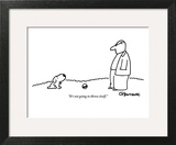 """""""It's not going to throw itself."""" - New Yorker Cartoon Wall Art by Charles Barsotti"""
