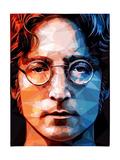 John Lennon Fotografisk tryk af Enrico Varrasso