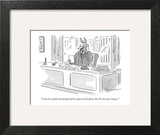 """I may be a jackal-headed god of the underworld, Janet, but I'm also your …"" - New Yorker Cartoon Art Print by Danny Shanahan"