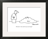 """Be honest—how much are you exercising?"" - New Yorker Cartoon Art Print by Charles Barsotti"