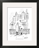 """""""Brooklyn is the Manhattan of the other boroughs."""" - New Yorker Cartoon Art Print by David Sipress"""