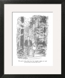 """It's good to know about trees.  Just remember nobody ever made any big mo…"" - New Yorker Cartoon Wall Art by Charles Saxon"