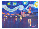 Starry Night In Regensburg Art by M Bleichner