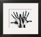 Vogue - April 1968 - Outstretched Hands Art Print by Bert Stern