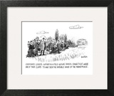 Corporate Leaders Gather In A Field Outside Darien, Connecticut, Where One… - New Yorker Cartoon Wall Art by Dana Fradon