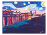Starry Night In Dresden Posters by M Bleichner