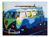 The Blue Surf Bus Prints by M Bleichner