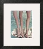 Vogue - July 1954 - Three Legs in a Half-Shell Wall Art by John Rawlings