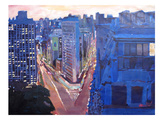 Nyc Flatiron At Night Lights 2 Prints by M Bleichner