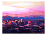 Phoenix Arizona Skyline2 Prints by M Bleichner