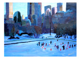 New York City - Central Park Winter Ice 2 Art by M Bleichner
