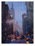 NY Street Scene Empire State Building 2 Prints by M Bleichner