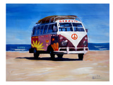 The Groovy Peace Surf Bus Posters by M Bleichner