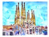 Sagrada Familia Barcelona Catalonia Neu Posters by M Bleichner
