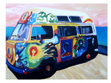 The Here Comes The Sun Surf Bus Or Prints by M Bleichner
