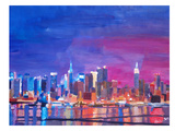 New York Rainbow Skyline 2 Posters by M Bleichner