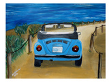 Blue Bug At Beach Posters by M Bleichner