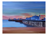 Brighton Pier Seaview Sunset Prints by M Bleichner