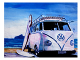 The VW Volkswagen Bully Series - The White Bus Posters by M Bleichner