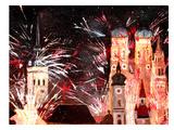 Munchen Silvester Feuerwerk Posters by M Bleichner