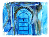 Chefchaouen Morocco Blue Door Prints by M Bleichner