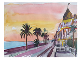 Nice France Seaview At Sunset Prints by M Bleichner