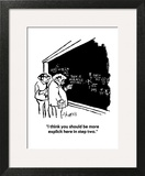 """I think you should be more explicit here in step two."" - Cartoon Art Print by Sidney Harris"