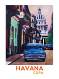 Cuban Oldtimer Street Scene In Havanna Cuba With Buena Vista Feeling Poster 2 Posters by M Bleichner