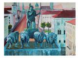 Munchen Siegestor Art by M Bleichner