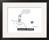 Creator's Remorse - New Yorker Cartoon Wall Art by Danny Shanahan
