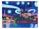 Starry Night In Paris Prints by M Bleichner