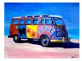 The Love Surf Bus Poster autor M Bleichner